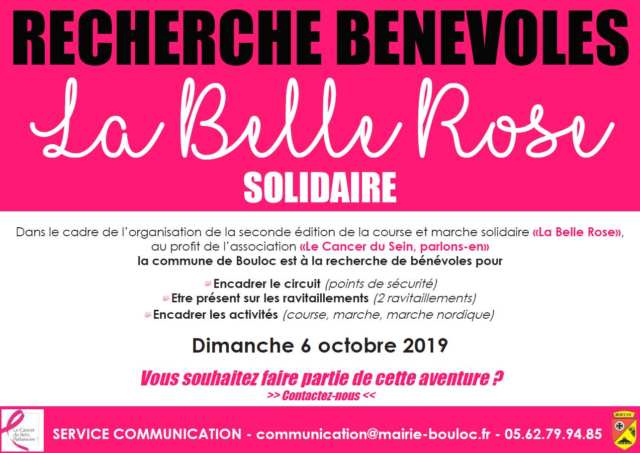 APPEL A BENEVOLES OCTOBRE ROSE